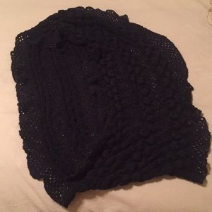 Accessories - Black Knitted Tube Scarf